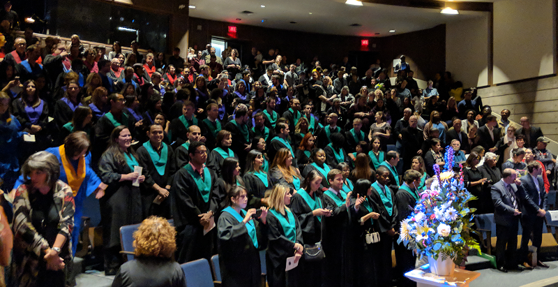An image showing a large amount of Continuing Education graduates